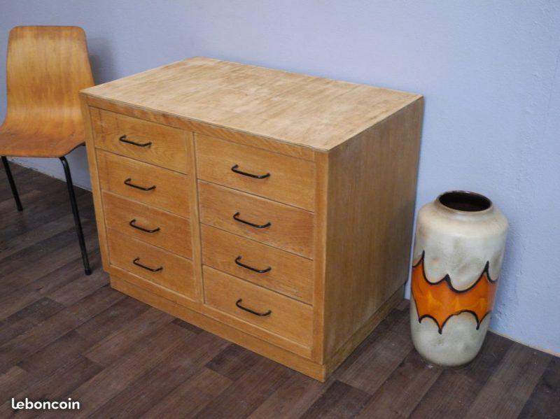 ancien meuble de mtier 8 tiroirs a 50s 60s atelier 1954
