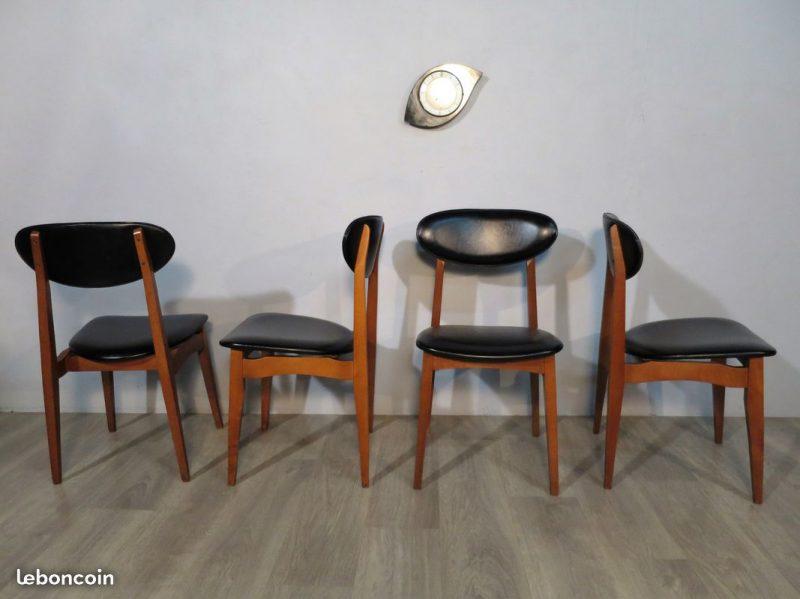 chaises scandinave anne 70 ska noir atelier 1954 - Chaise Annee 70