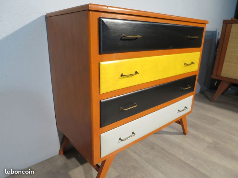 commode pieds compas vintage atelier 1954. Black Bedroom Furniture Sets. Home Design Ideas